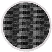 Pencil Scribble Texture 2 Round Beach Towel