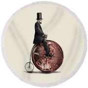 Penny Farthing Round Beach Towel