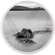 Round Beach Towel featuring the photograph Penobscot Bay Tranquility by Rick Berk