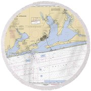 Pensacola Bay And Approaches Noaa Chart 11382 Round Beach Towel