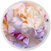 Round Beach Towel featuring the digital art Peony Love 1 by Cindy Greenstein