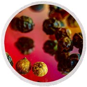 Peppercorns Round Beach Towel