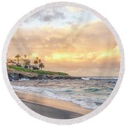 Perfect Morning From Wipeout Round Beach Towel
