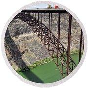 Perrine Bridge, Twin Falls, Idaho Round Beach Towel
