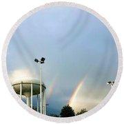 Perry Hall Double Rainbow Round Beach Towel