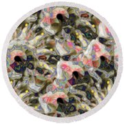 Petals On The Wind Round Beach Towel