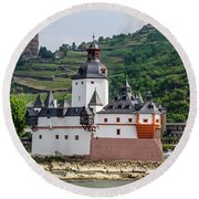 Pfalzgrafenstein Castle Round Beach Towel