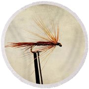 Pheasant Tail Dry Fly Round Beach Towel