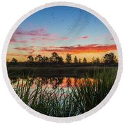 Phinizy Swamp Sunrise - Augusta Ga Round Beach Towel