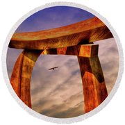 Pi In The Sky Round Beach Towel