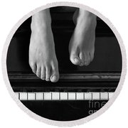 Piano #0215az Round Beach Towel