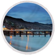 Pier House Malibu Round Beach Towel