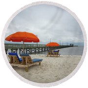 Pier Round Beach Towel