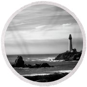 Round Beach Towel featuring the photograph Pigeon Point  by Lora Lee Chapman