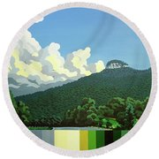 Pilot Mountain - Summer Round Beach Towel