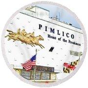 Pimlico Round Beach Towel
