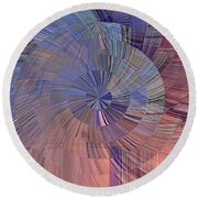 Pink, Blue And Purple Round Beach Towel