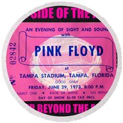 Pink Floyd 1973 Ticket And Tour Round Beach Towel