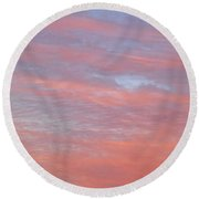 Pink In The Sky Round Beach Towel