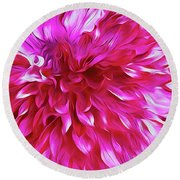 Pink Passion Punch  Round Beach Towel