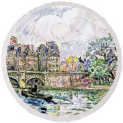Place Dauphine - Digital Remastered Edition Round Beach Towel