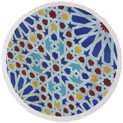 Place The Sun Sets Round Beach Towel