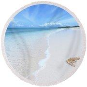 Placidity Round Beach Towel