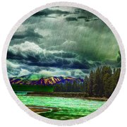 Planetary Infection Round Beach Towel