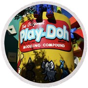 Play Doh At Pop Century Round Beach Towel