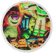 Play In Imagination Round Beach Towel