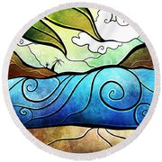 Playa Paraiso Round Beach Towel