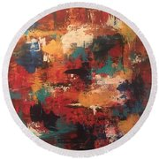Playing With Color Round Beach Towel