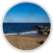 Plum Island Scene Round Beach Towel