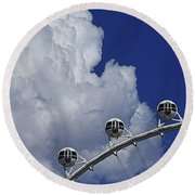 Round Beach Towel featuring the photograph Pod Cluster 2 by Skip Hunt