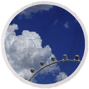 Round Beach Towel featuring the photograph Pod Cluster 3 by Skip Hunt