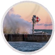 Point Breeze Round Beach Towel