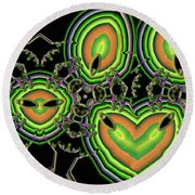 Point Of View Round Beach Towel