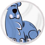Polar King Round Beach Towel