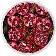 Pomegranate New Year Round Beach Towel