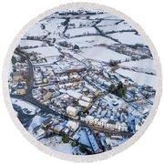 Pontrhydfendigaid Village, Wales, In The Snow Round Beach Towel