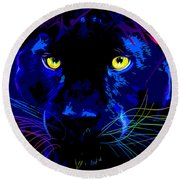 pOpCat Black Panther Round Beach Towel