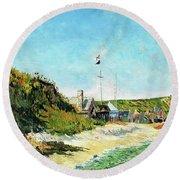 Port En Bessin - Digital Remastered Edition Round Beach Towel