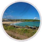 Porthmeor Beach - St Ives Cornwall Round Beach Towel