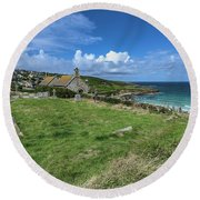 Porthmeor From Barnoon - St Ives Cornwall Round Beach Towel