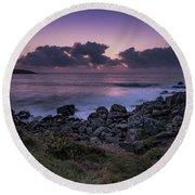 Porthmeor Sunset - Cornwall Round Beach Towel