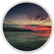 Porthmeor Sunset Version 2 Round Beach Towel