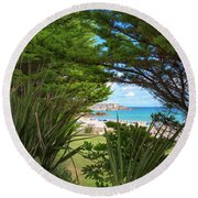 Porthminster Behind The Trees - St Ives Cornwall Round Beach Towel