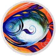 Positive Fish Round Beach Towel