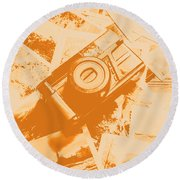 Posterised Photography Round Beach Towel