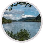 Potomac River At Harper's Ferry Round Beach Towel
